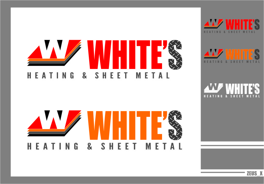 Logo Design by RasYa Muhammad Athaya - Entry No. 131 in the Logo Design Contest Imaginative Logo Design for White's Heating and Sheet Metal.
