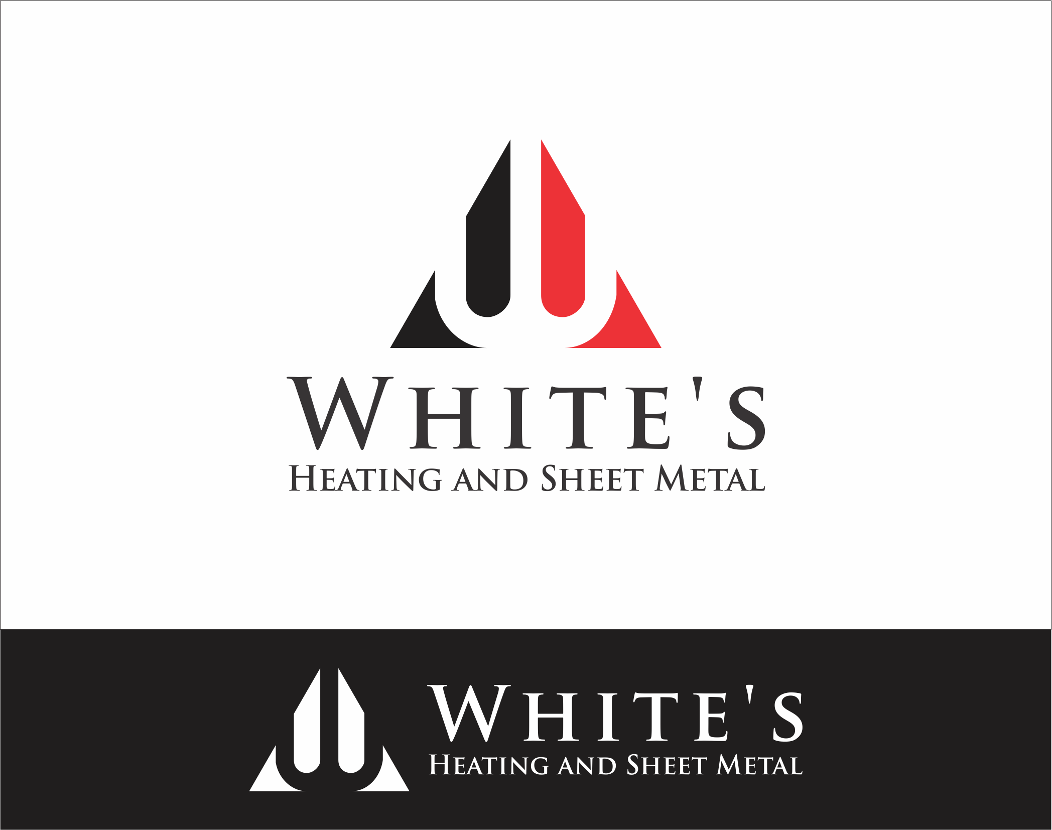 Logo Design by Armada Jamaluddin - Entry No. 132 in the Logo Design Contest Imaginative Logo Design for White's Heating and Sheet Metal.