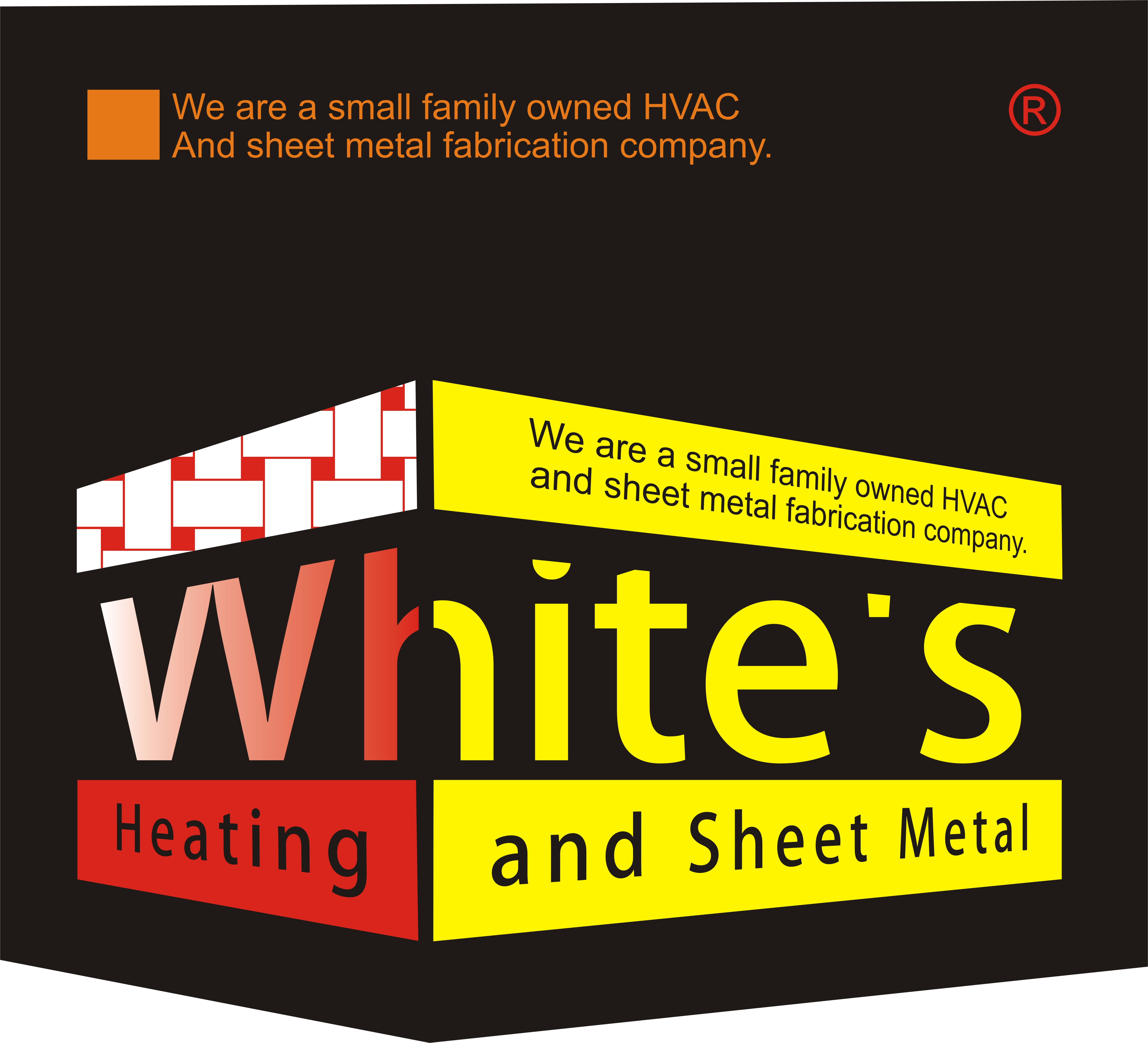 Logo Design by Eic Limber - Entry No. 137 in the Logo Design Contest Imaginative Logo Design for White's Heating and Sheet Metal.