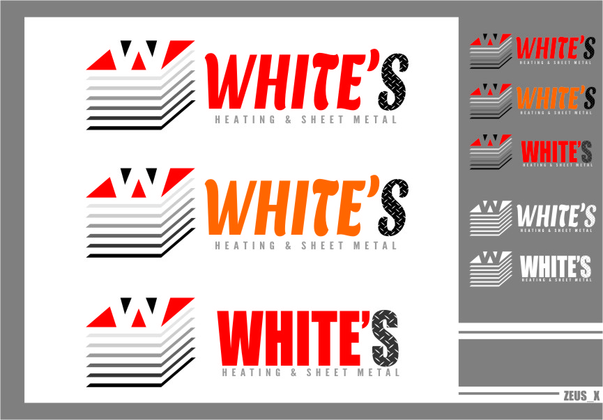 Logo Design by RoSyid Rono-Rene On Java - Entry No. 140 in the Logo Design Contest Imaginative Logo Design for White's Heating and Sheet Metal.