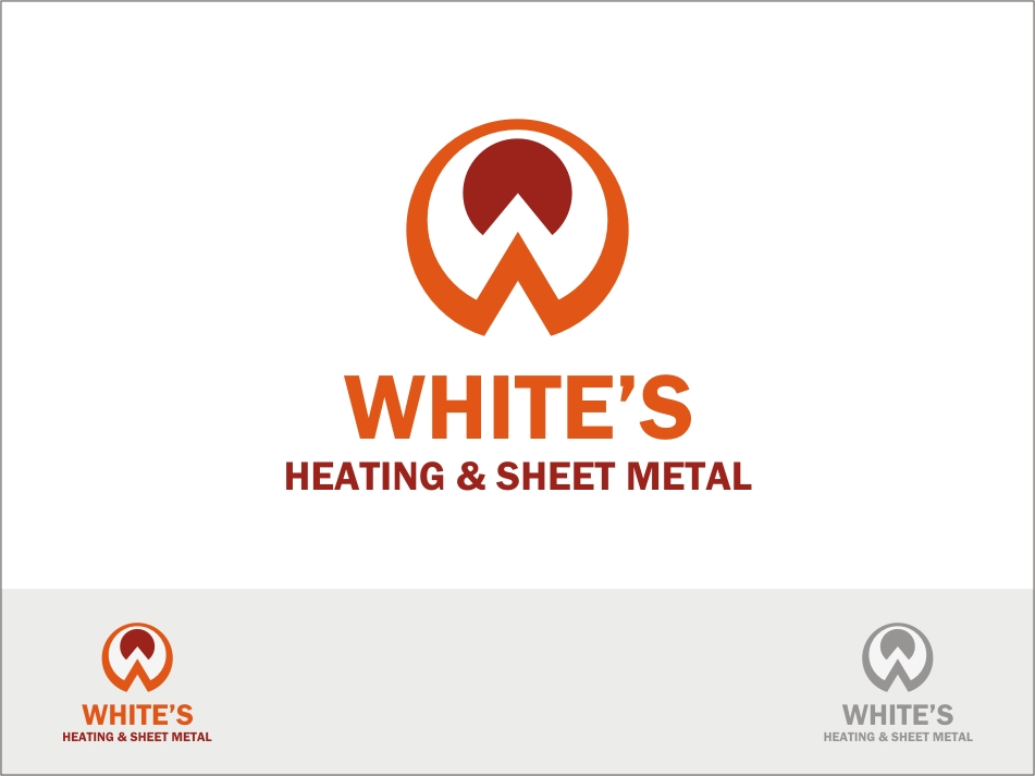 Logo Design by RED HORSE design studio - Entry No. 141 in the Logo Design Contest Imaginative Logo Design for White's Heating and Sheet Metal.