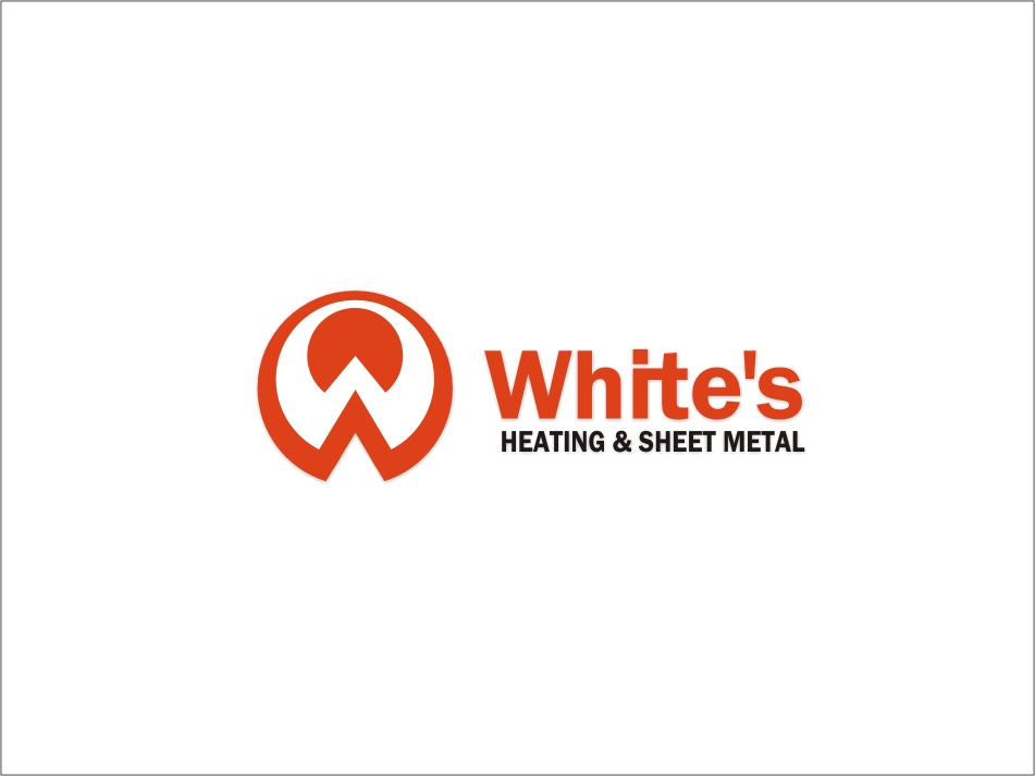Logo Design by RED HORSE design studio - Entry No. 142 in the Logo Design Contest Imaginative Logo Design for White's Heating and Sheet Metal.