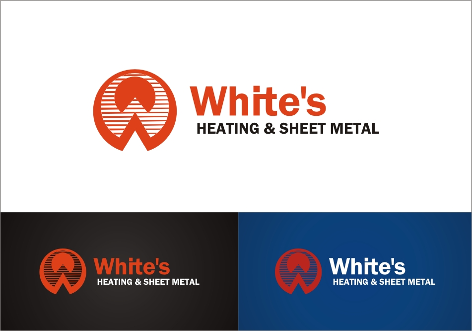 Logo Design by RED HORSE design studio - Entry No. 143 in the Logo Design Contest Imaginative Logo Design for White's Heating and Sheet Metal.