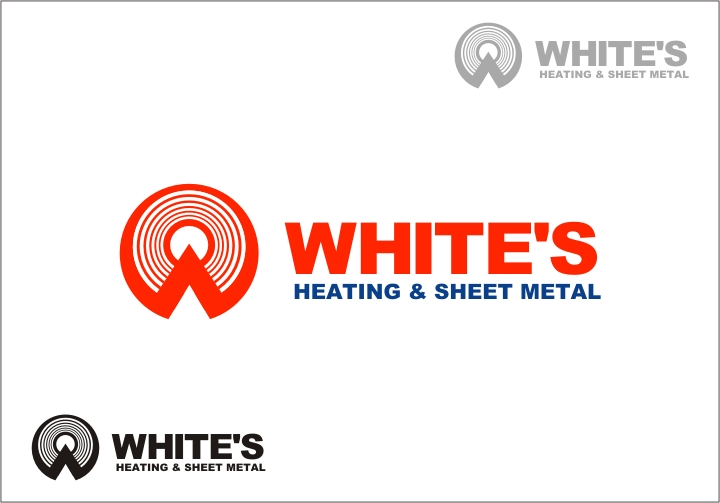 Logo Design by RED HORSE design studio - Entry No. 144 in the Logo Design Contest Imaginative Logo Design for White's Heating and Sheet Metal.
