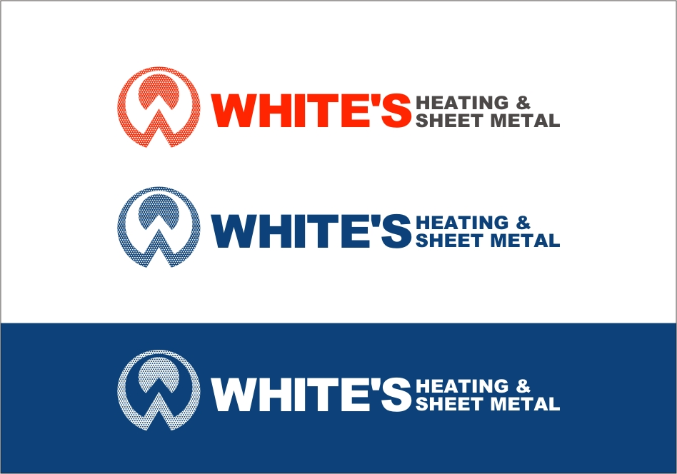 Logo Design by RED HORSE design studio - Entry No. 145 in the Logo Design Contest Imaginative Logo Design for White's Heating and Sheet Metal.