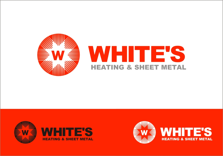 Logo Design by RED HORSE design studio - Entry No. 146 in the Logo Design Contest Imaginative Logo Design for White's Heating and Sheet Metal.