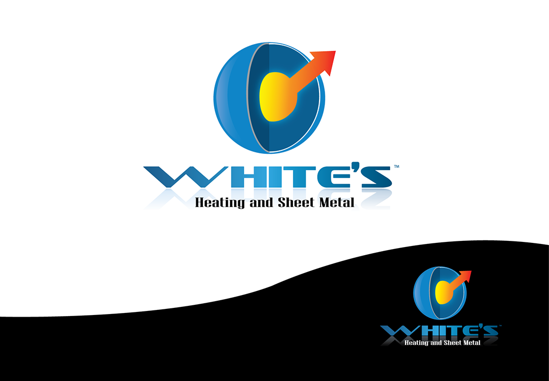 Logo Design by robken0174 - Entry No. 149 in the Logo Design Contest Imaginative Logo Design for White's Heating and Sheet Metal.