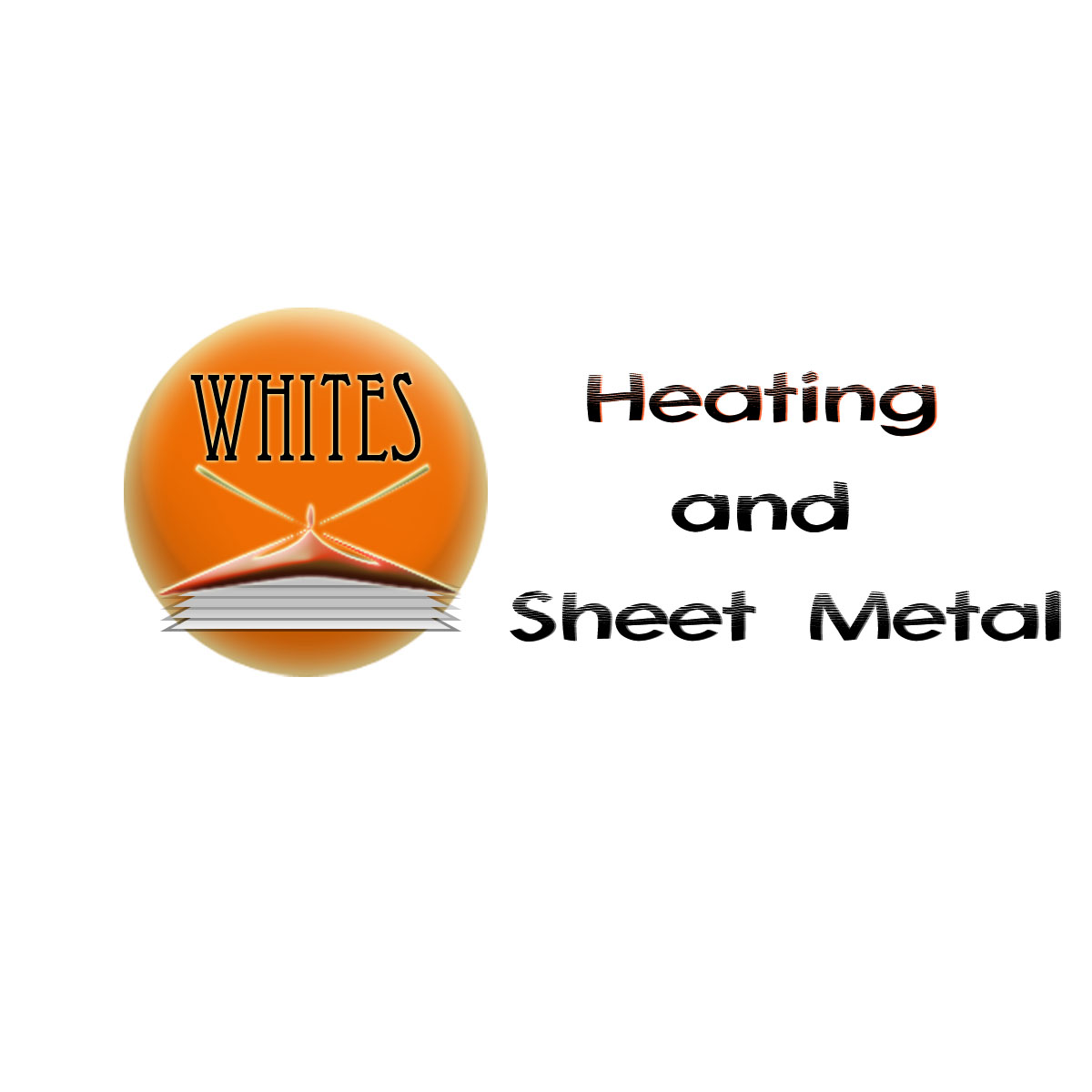 Logo Design by Moag - Entry No. 152 in the Logo Design Contest Imaginative Logo Design for White's Heating and Sheet Metal.