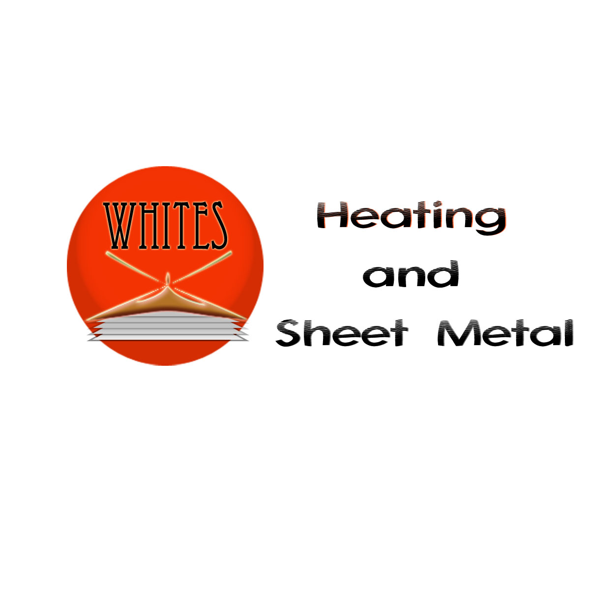Logo Design by Moag - Entry No. 153 in the Logo Design Contest Imaginative Logo Design for White's Heating and Sheet Metal.
