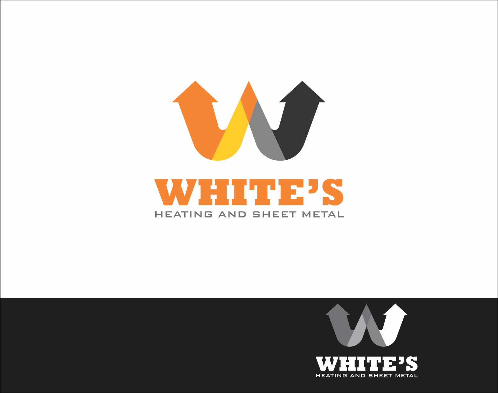 Logo Design by Armada Jamaluddin - Entry No. 163 in the Logo Design Contest Imaginative Logo Design for White's Heating and Sheet Metal.