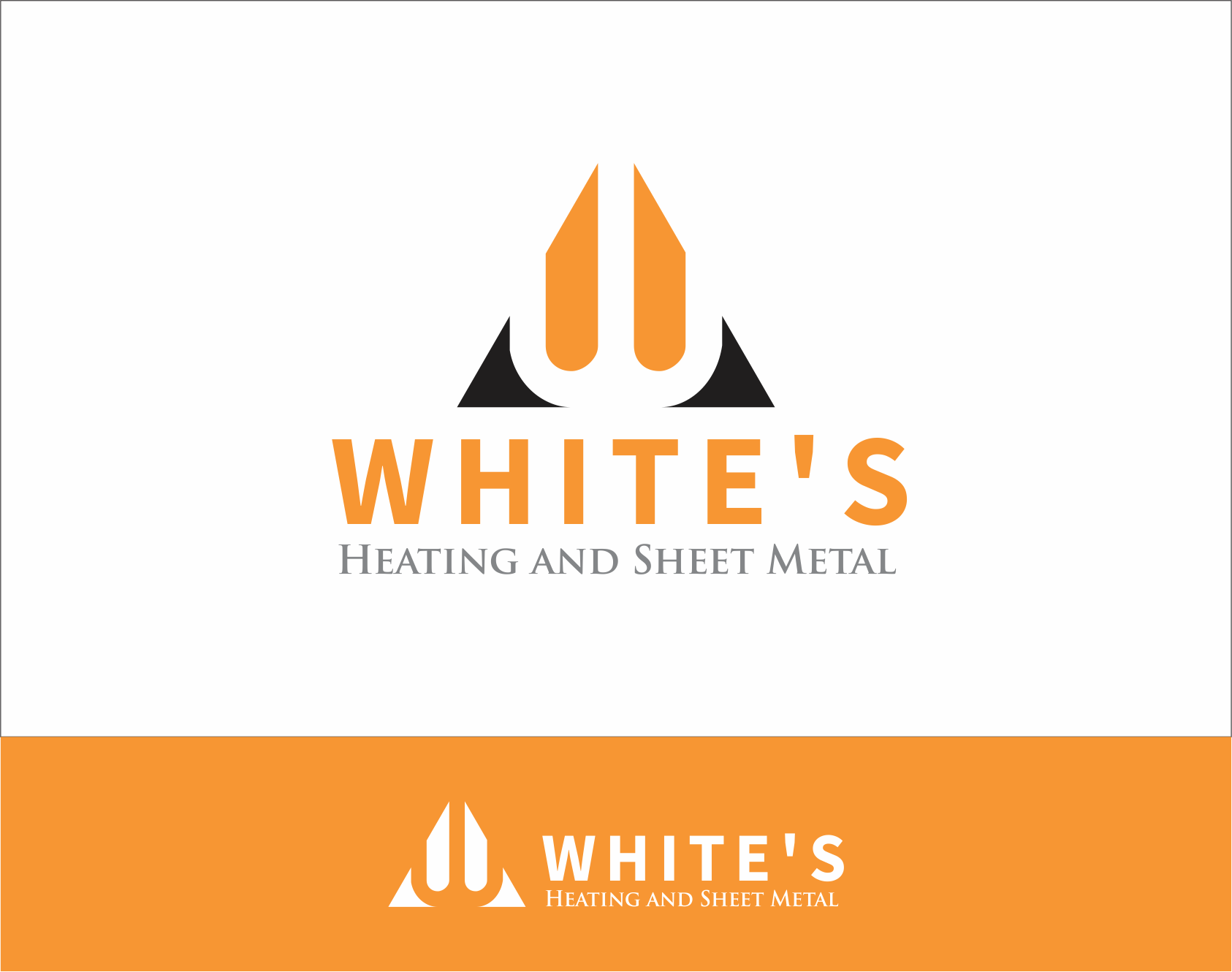 Logo Design by Armada Jamaluddin - Entry No. 164 in the Logo Design Contest Imaginative Logo Design for White's Heating and Sheet Metal.
