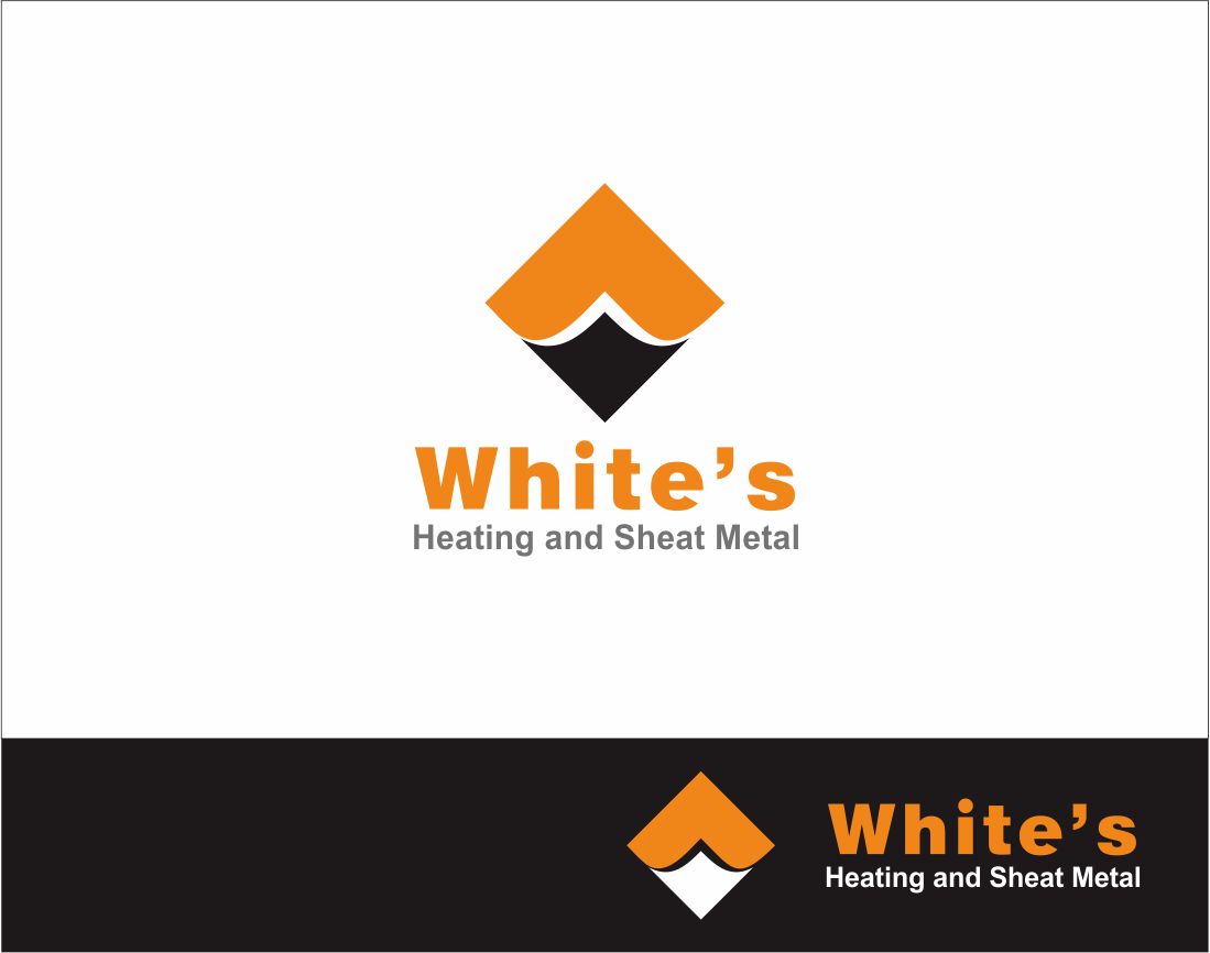 Logo Design by Armada Jamaluddin - Entry No. 165 in the Logo Design Contest Imaginative Logo Design for White's Heating and Sheet Metal.