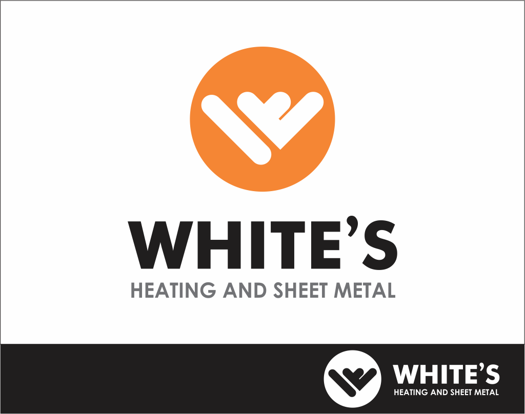 Logo Design by Armada Jamaluddin - Entry No. 166 in the Logo Design Contest Imaginative Logo Design for White's Heating and Sheet Metal.