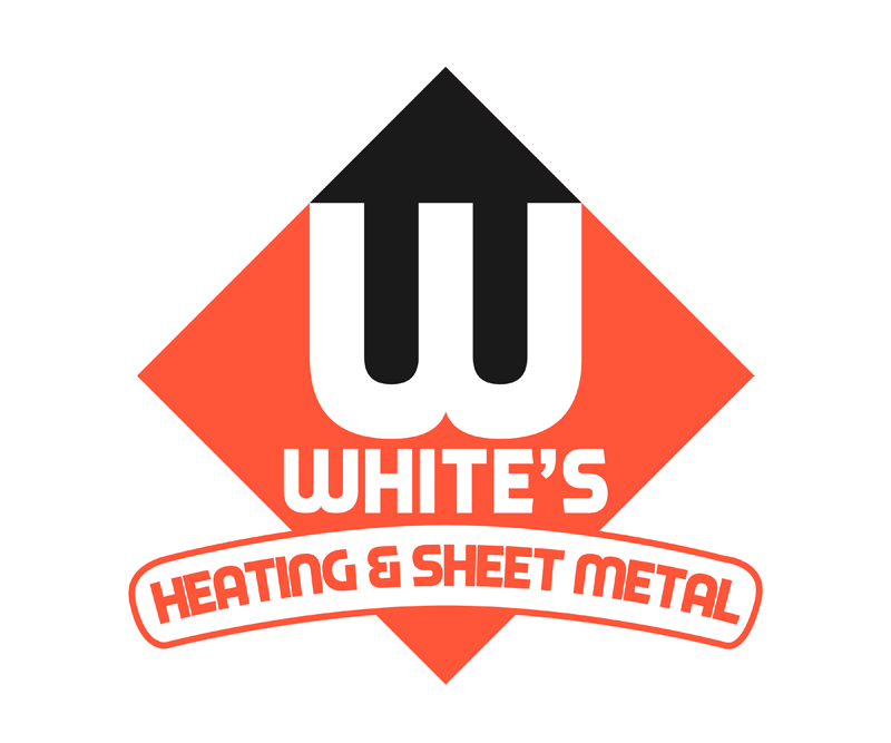 Logo Design by Robert Turla - Entry No. 171 in the Logo Design Contest Imaginative Logo Design for White's Heating and Sheet Metal.
