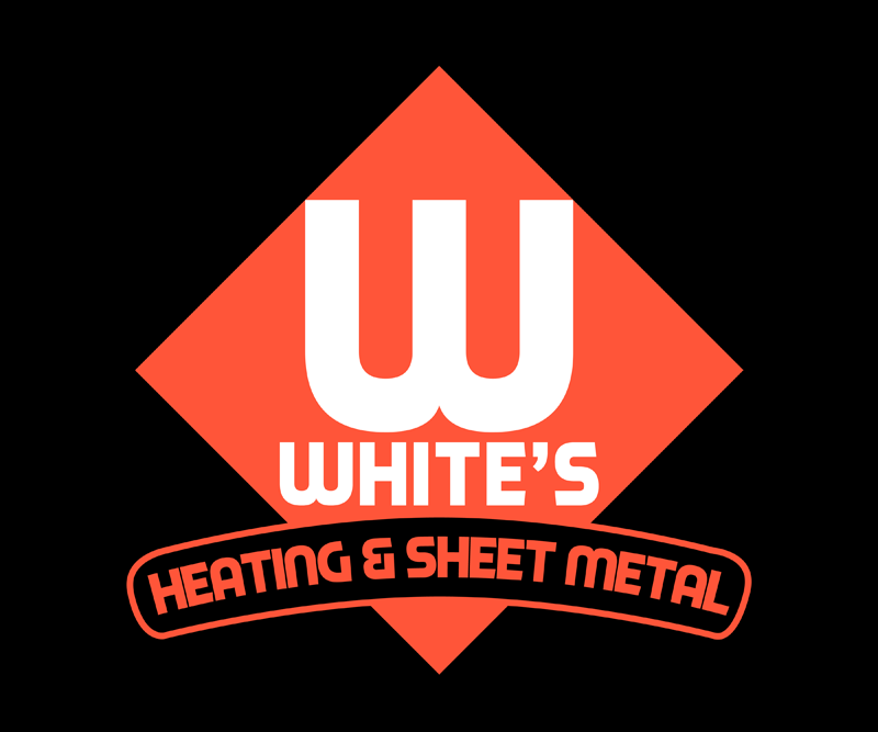 Logo Design by Robert Turla - Entry No. 172 in the Logo Design Contest Imaginative Logo Design for White's Heating and Sheet Metal.