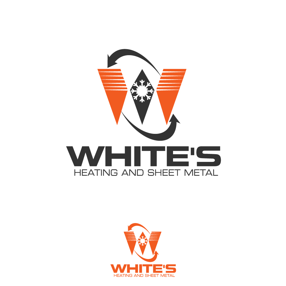 Logo Design by rockin - Entry No. 174 in the Logo Design Contest Imaginative Logo Design for White's Heating and Sheet Metal.