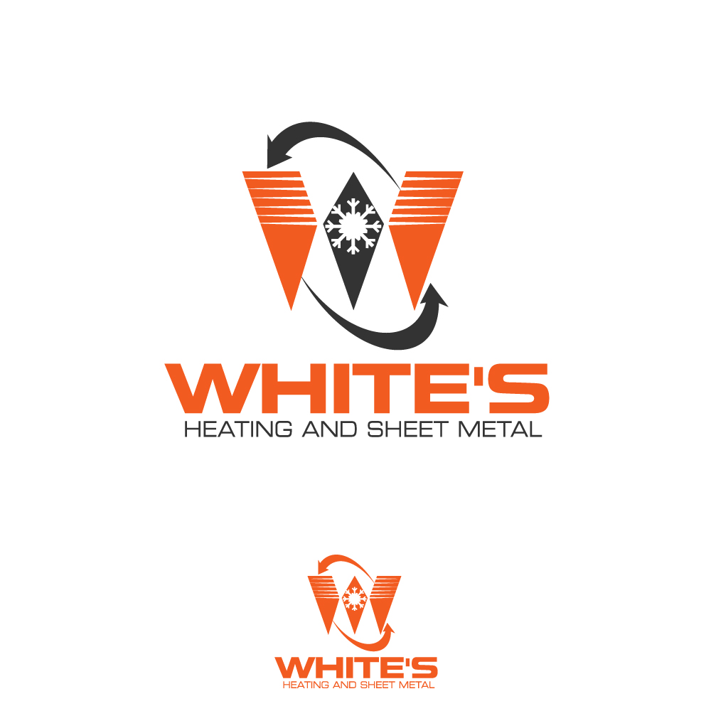 Logo Design by rockin - Entry No. 175 in the Logo Design Contest Imaginative Logo Design for White's Heating and Sheet Metal.