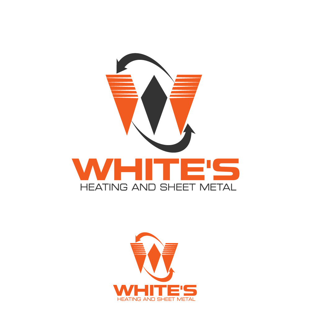 Logo Design by rockin - Entry No. 176 in the Logo Design Contest Imaginative Logo Design for White's Heating and Sheet Metal.
