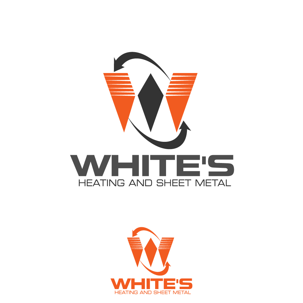 Logo Design by rockin - Entry No. 177 in the Logo Design Contest Imaginative Logo Design for White's Heating and Sheet Metal.