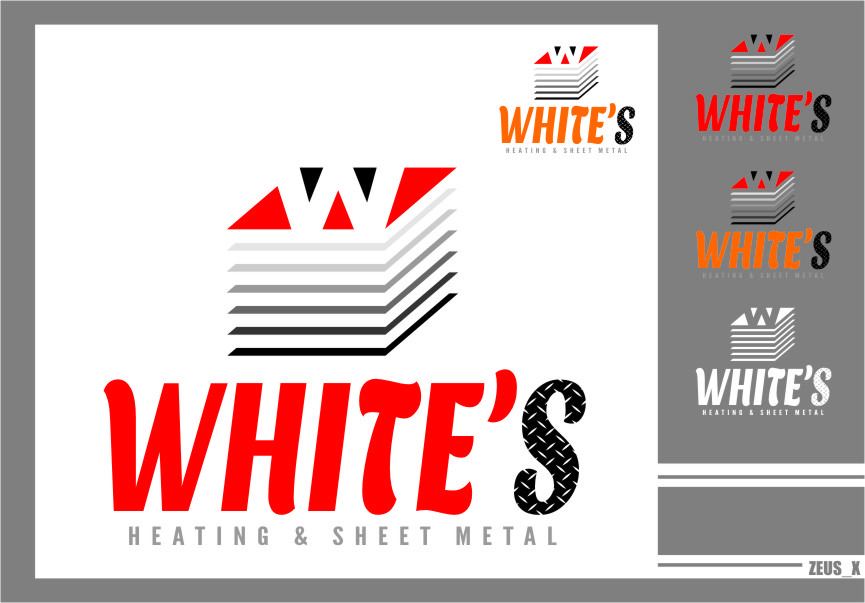 Logo Design by Ngepet_art - Entry No. 178 in the Logo Design Contest Imaginative Logo Design for White's Heating and Sheet Metal.