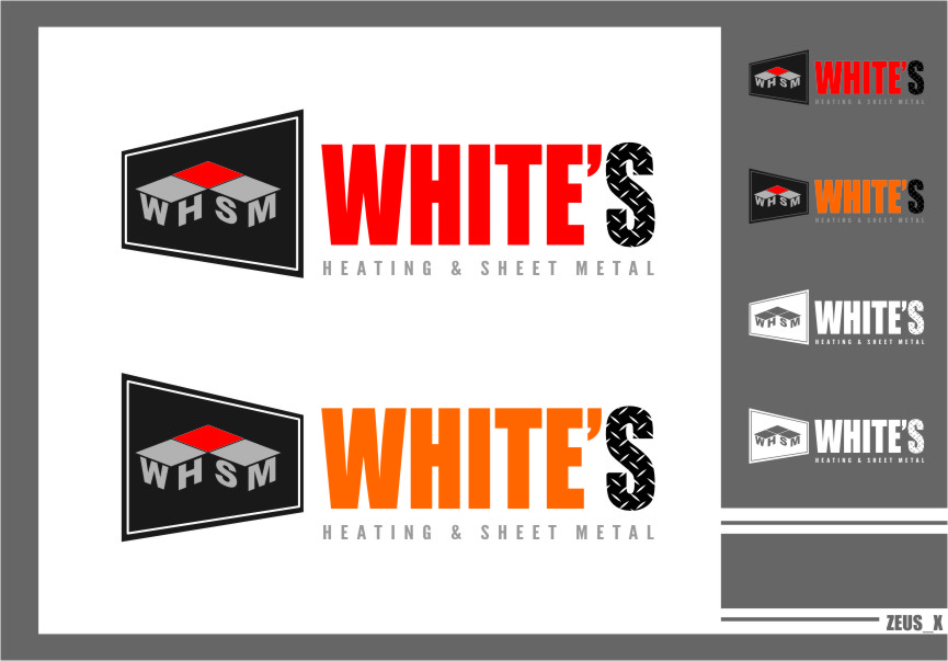 Logo Design by Ngepet_art - Entry No. 179 in the Logo Design Contest Imaginative Logo Design for White's Heating and Sheet Metal.