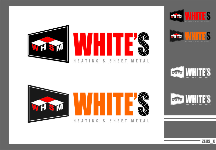 Logo Design by Ngepet_art - Entry No. 180 in the Logo Design Contest Imaginative Logo Design for White's Heating and Sheet Metal.