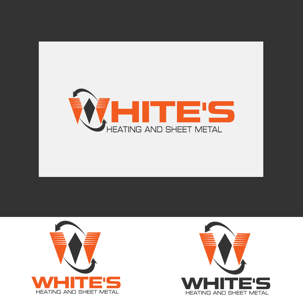 Logo Design by rockin - Entry No. 181 in the Logo Design Contest Imaginative Logo Design for White's Heating and Sheet Metal.