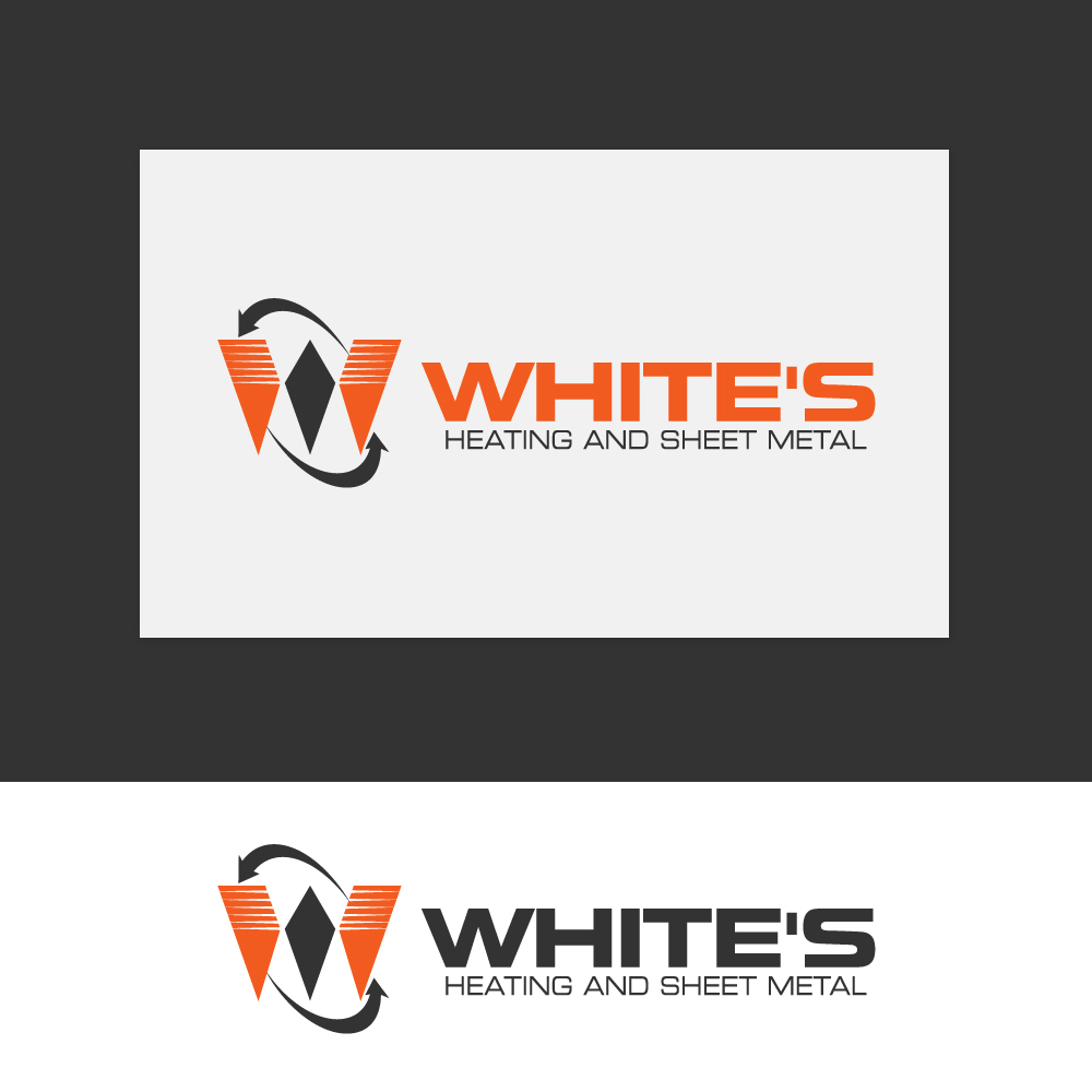 Logo Design by rockin - Entry No. 182 in the Logo Design Contest Imaginative Logo Design for White's Heating and Sheet Metal.