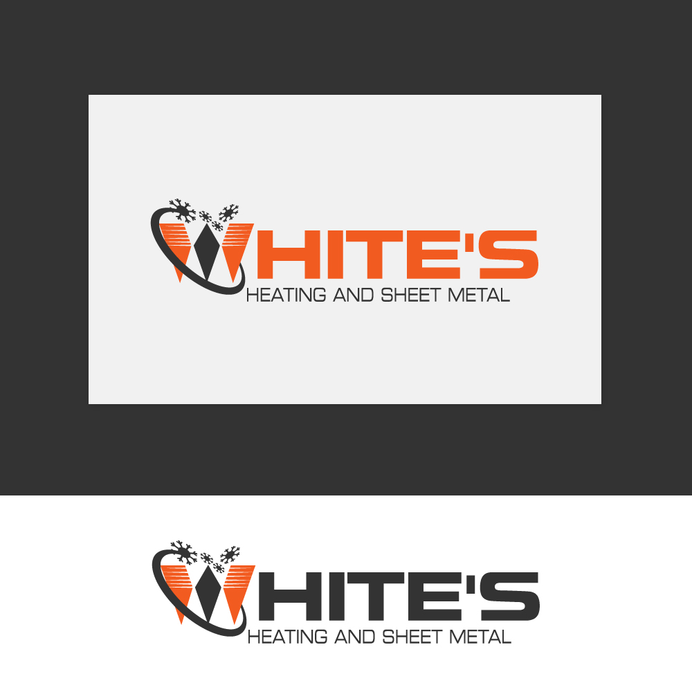 Logo Design by rockin - Entry No. 183 in the Logo Design Contest Imaginative Logo Design for White's Heating and Sheet Metal.