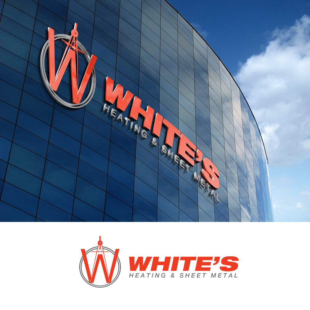 Logo Design by omARTist - Entry No. 184 in the Logo Design Contest Imaginative Logo Design for White's Heating and Sheet Metal.