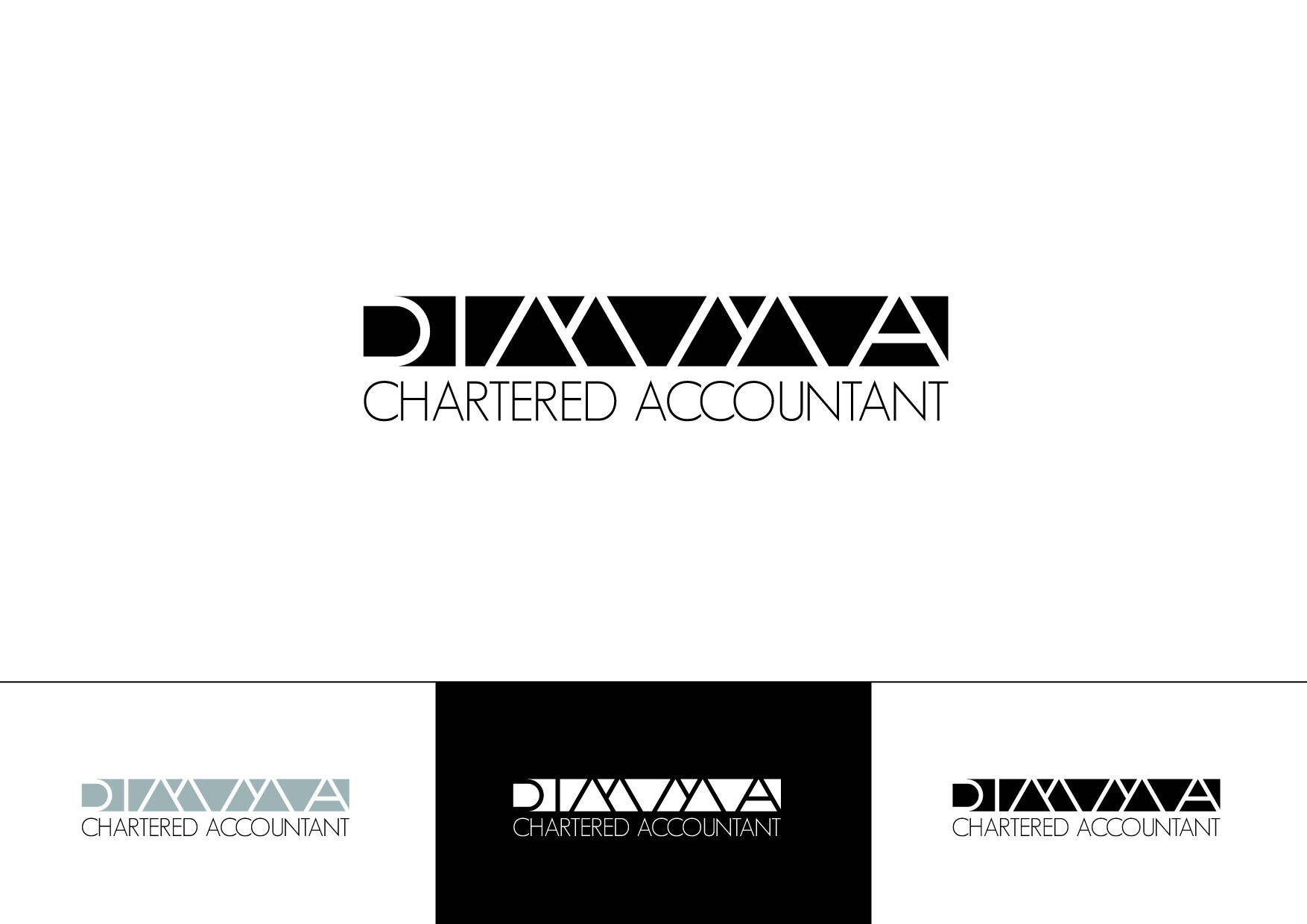 Logo Design by Private User - Entry No. 101 in the Logo Design Contest Creative Logo Design for Dimma Chartered Accountant.