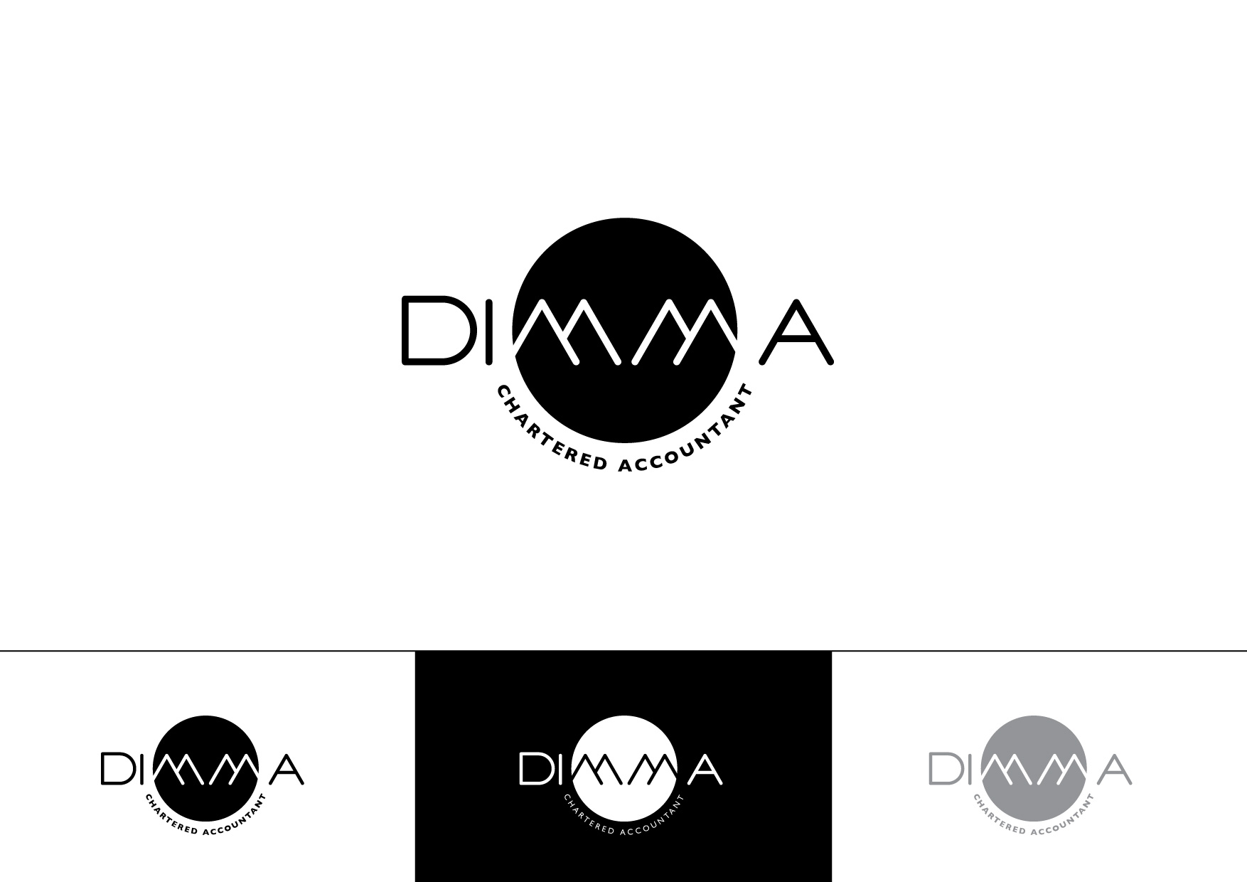 Logo Design by Private User - Entry No. 102 in the Logo Design Contest Creative Logo Design for Dimma Chartered Accountant.