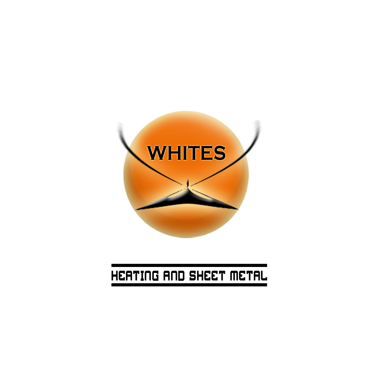 Logo Design by Moag - Entry No. 186 in the Logo Design Contest Imaginative Logo Design for White's Heating and Sheet Metal.