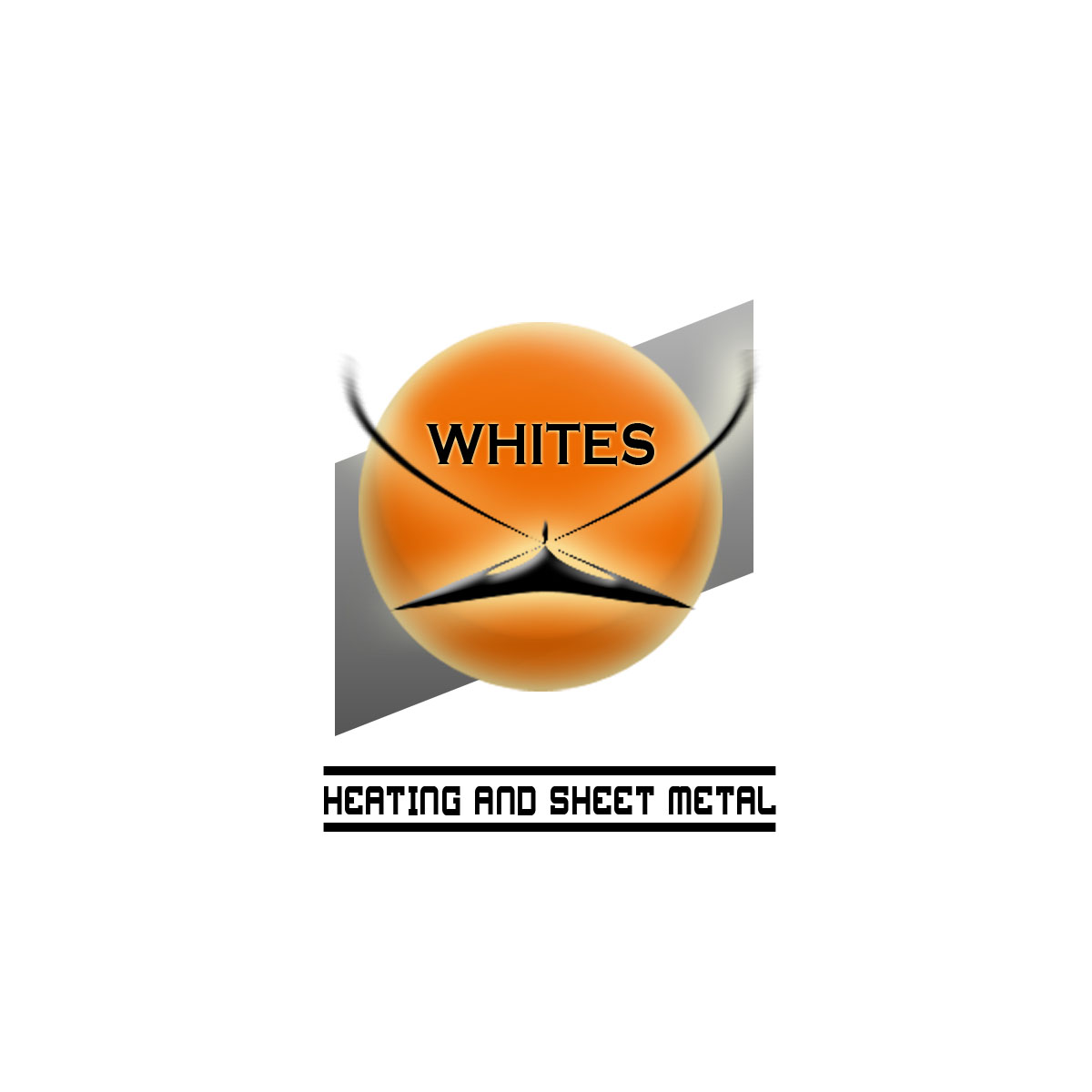 Logo Design by Moag - Entry No. 187 in the Logo Design Contest Imaginative Logo Design for White's Heating and Sheet Metal.
