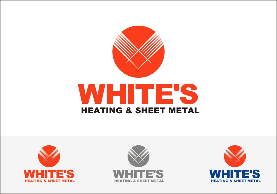 Logo Design by RED HORSE design studio - Entry No. 192 in the Logo Design Contest Imaginative Logo Design for White's Heating and Sheet Metal.