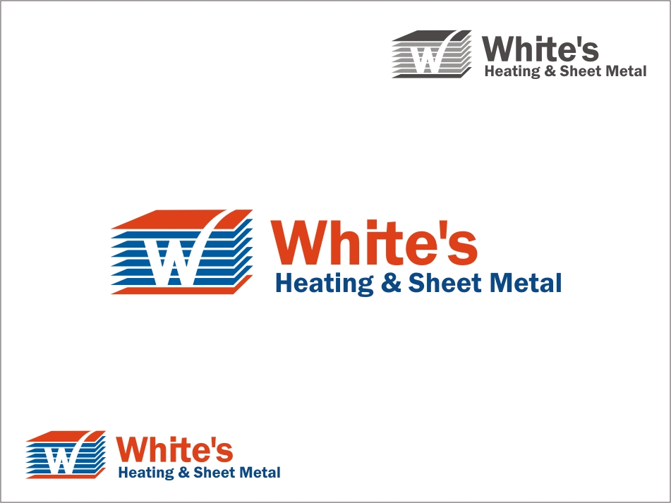 Logo Design by RED HORSE design studio - Entry No. 193 in the Logo Design Contest Imaginative Logo Design for White's Heating and Sheet Metal.