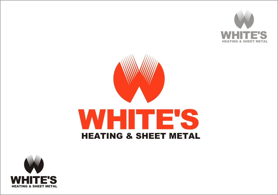 Logo Design by RED HORSE design studio - Entry No. 194 in the Logo Design Contest Imaginative Logo Design for White's Heating and Sheet Metal.