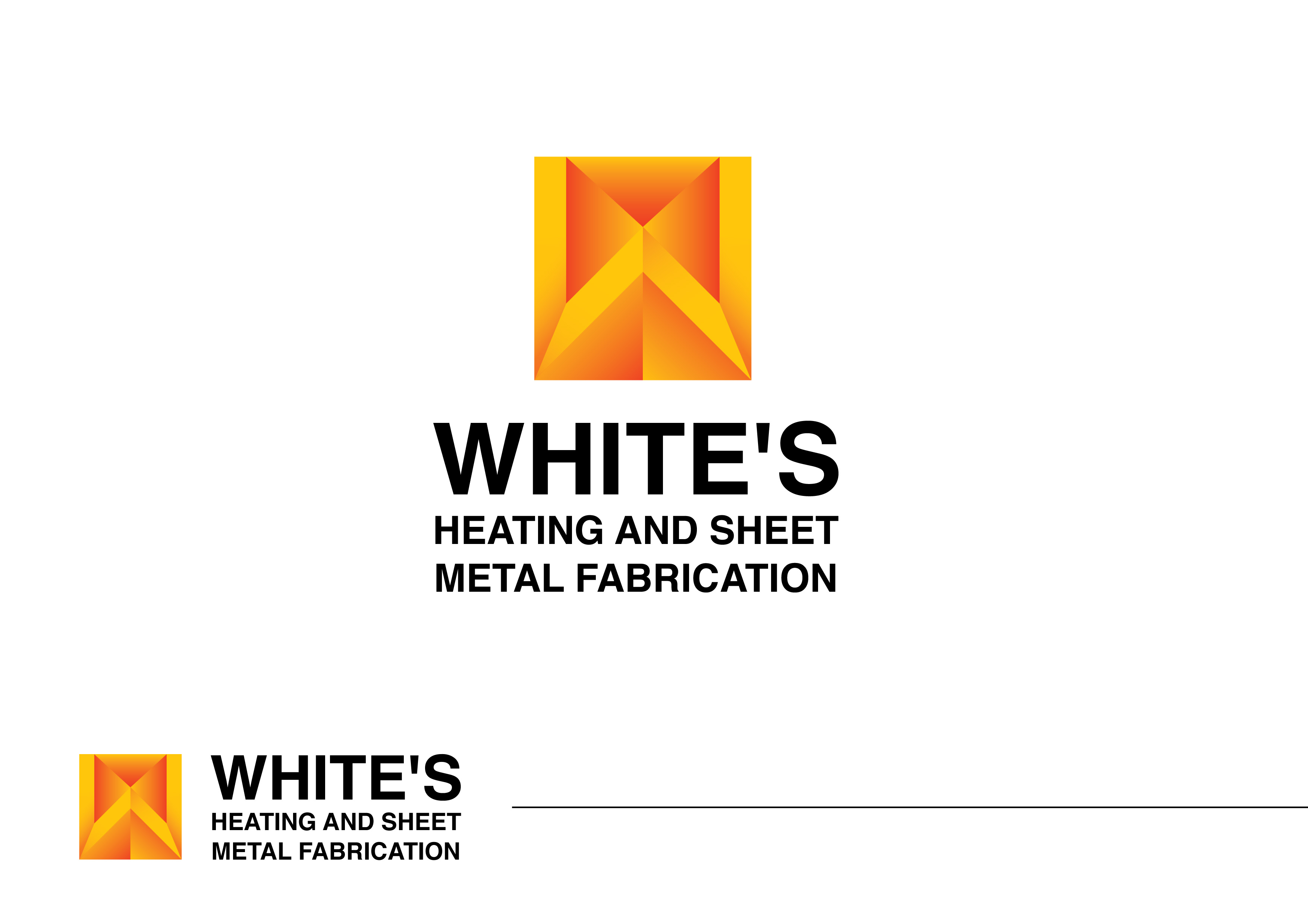 Logo Design by Private User - Entry No. 196 in the Logo Design Contest Imaginative Logo Design for White's Heating and Sheet Metal.