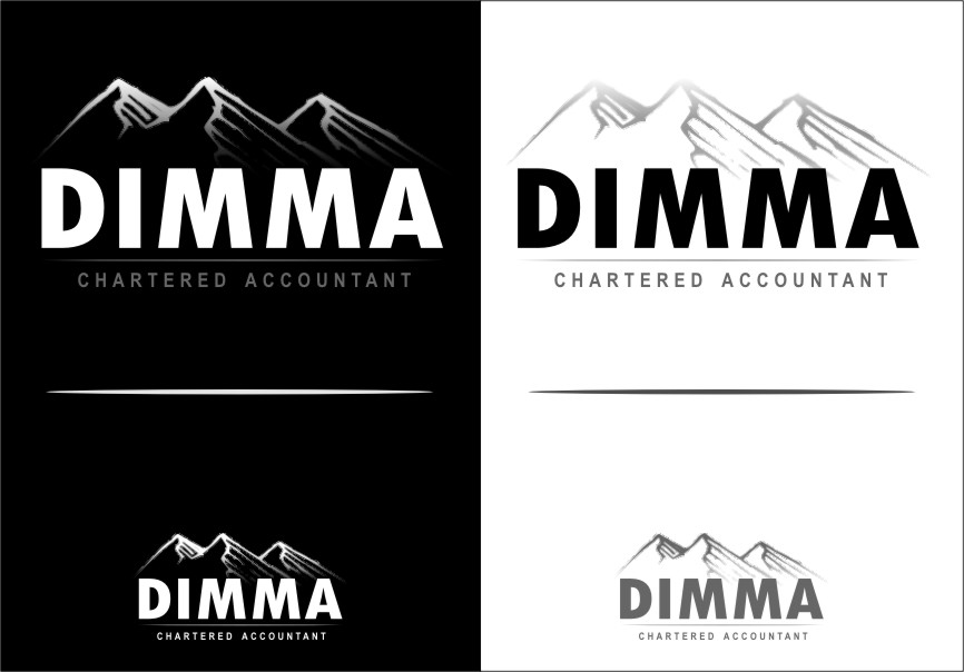 Logo Design by Ngepet_art - Entry No. 117 in the Logo Design Contest Creative Logo Design for Dimma Chartered Accountant.