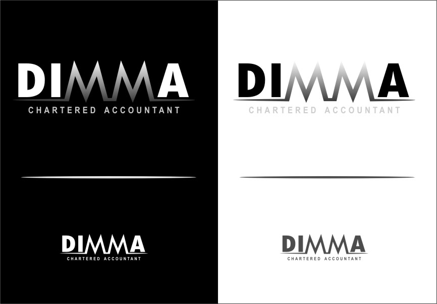 Logo Design by Ngepet_art - Entry No. 118 in the Logo Design Contest Creative Logo Design for Dimma Chartered Accountant.