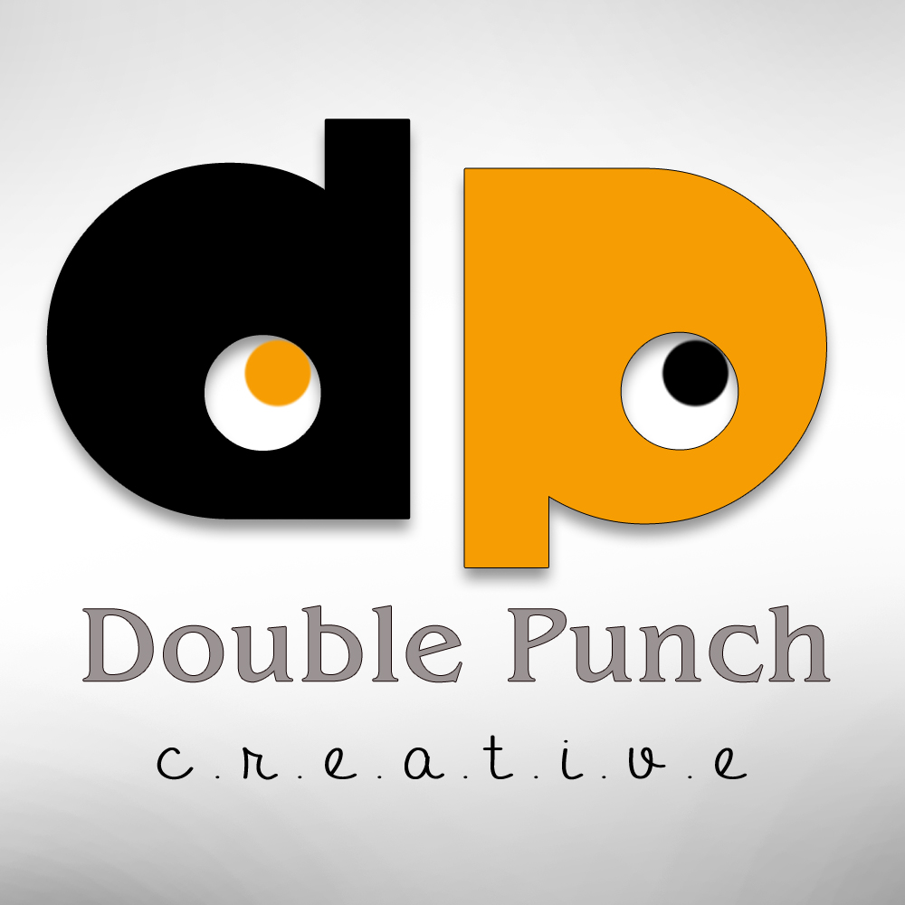 Logo Design by Shailender Kumar - Entry No. 96 in the Logo Design Contest Unique Logo Design Wanted for Double Punch Creative.