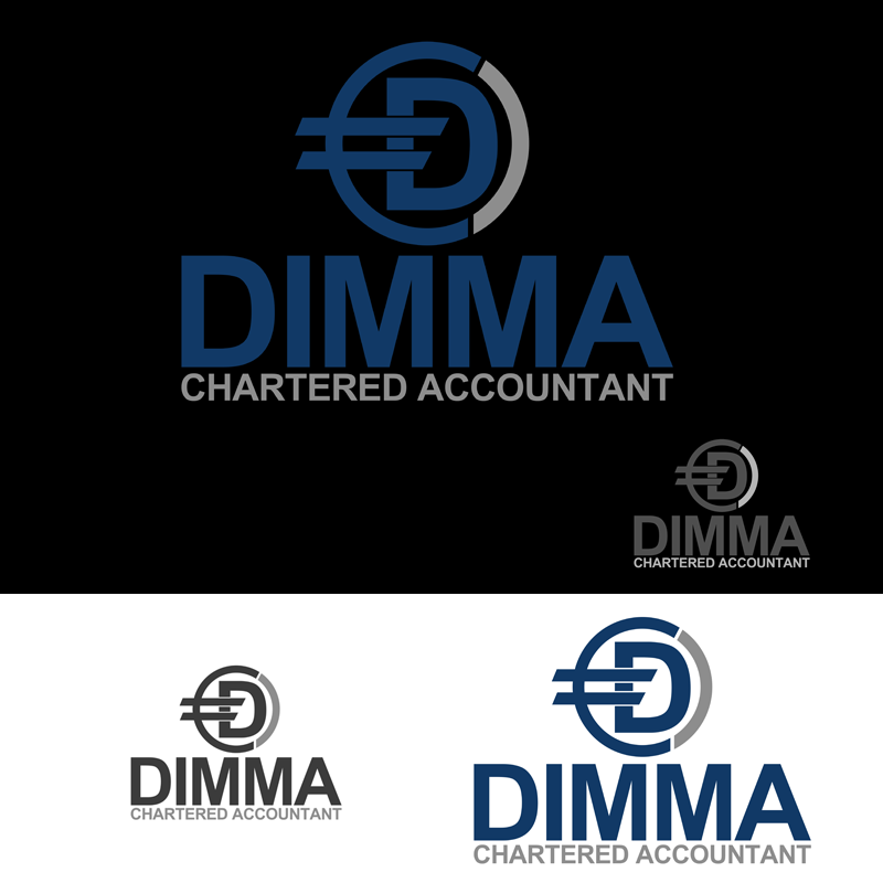 Logo Design by Private User - Entry No. 136 in the Logo Design Contest Creative Logo Design for Dimma Chartered Accountant.