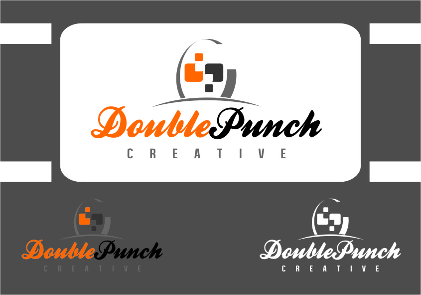 Logo Design by Ngepet_art - Entry No. 105 in the Logo Design Contest Unique Logo Design Wanted for Double Punch Creative.