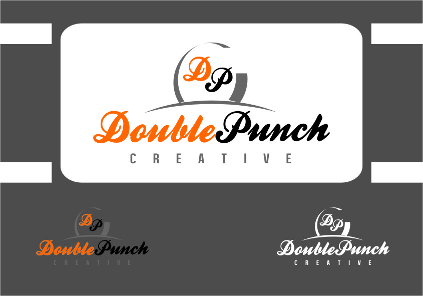 Logo Design by Ngepet_art - Entry No. 106 in the Logo Design Contest Unique Logo Design Wanted for Double Punch Creative.