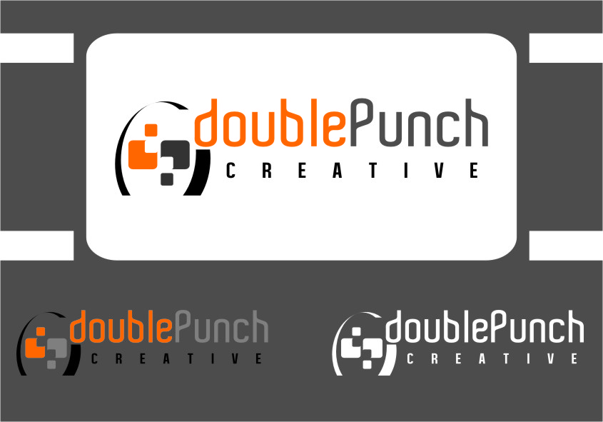 Logo Design by Ngepet_art - Entry No. 107 in the Logo Design Contest Unique Logo Design Wanted for Double Punch Creative.