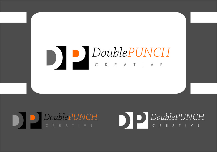 Logo Design by RasYa Muhammad Athaya - Entry No. 110 in the Logo Design Contest Unique Logo Design Wanted for Double Punch Creative.
