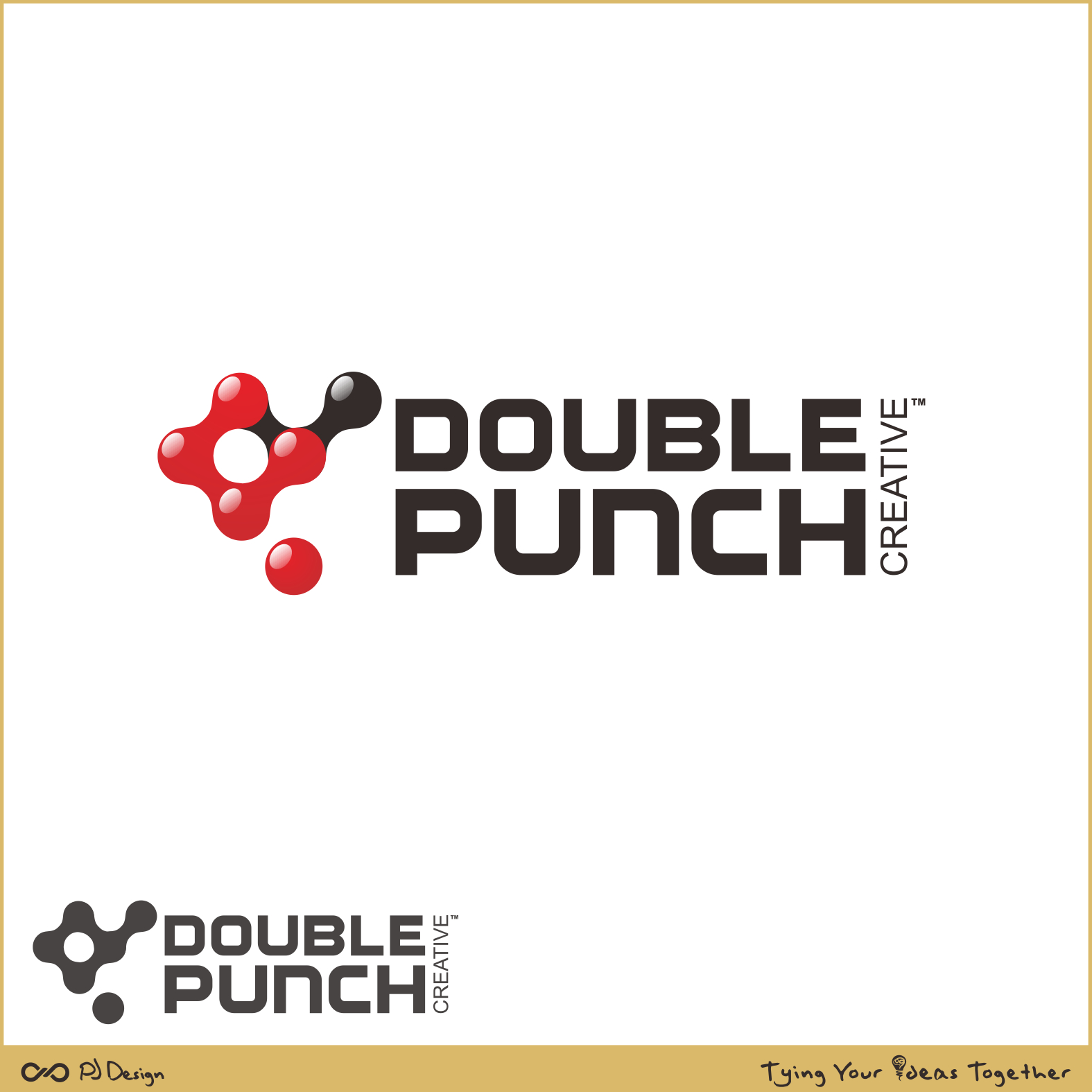 Logo Design by PJD - Entry No. 120 in the Logo Design Contest Unique Logo Design Wanted for Double Punch Creative.