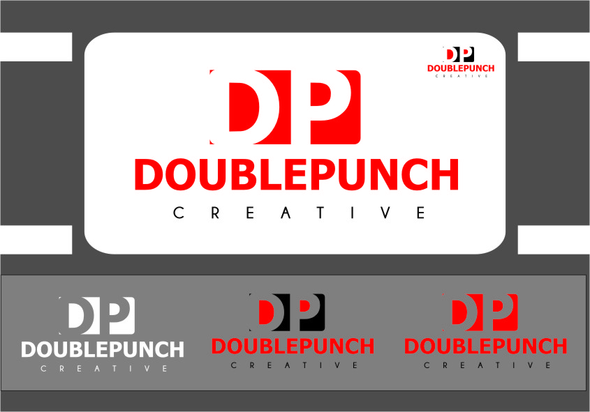 Logo Design by RasYa Muhammad Athaya - Entry No. 122 in the Logo Design Contest Unique Logo Design Wanted for Double Punch Creative.