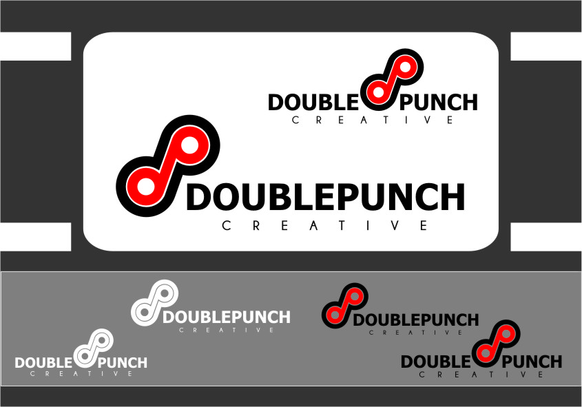 Logo Design by Ngepet_art - Entry No. 123 in the Logo Design Contest Unique Logo Design Wanted for Double Punch Creative.