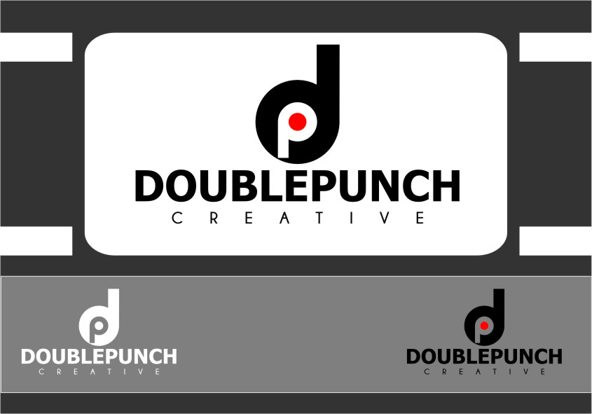 Logo Design by RasYa Muhammad Athaya - Entry No. 124 in the Logo Design Contest Unique Logo Design Wanted for Double Punch Creative.